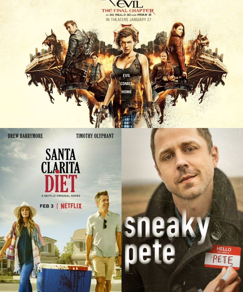 Season 12 Episode 4 Santa Clarita Diet, Sneaky Pete, Resident Evil: The Final Chapter